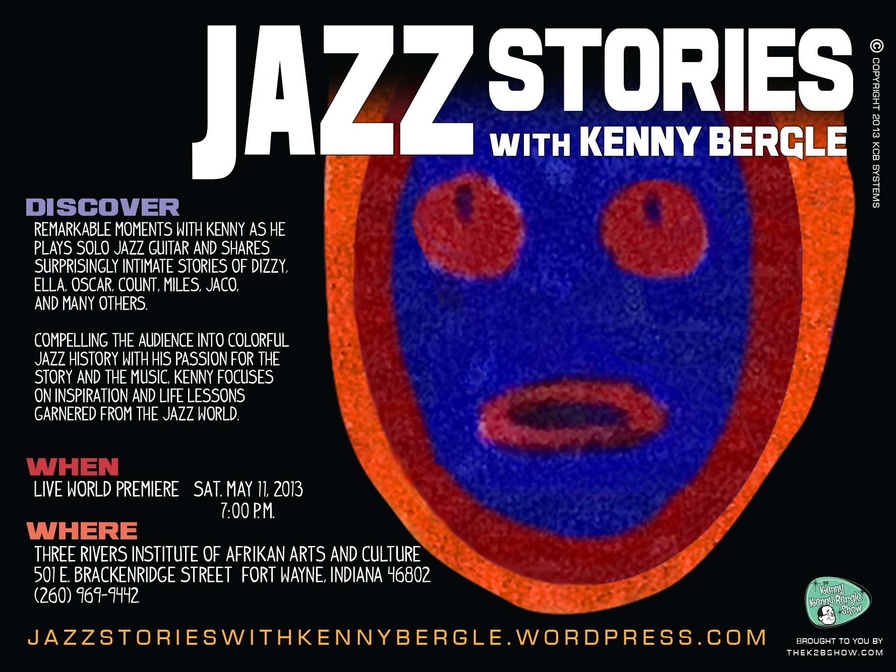 Final Jazz Stories with Kenny Bergle Web graphic March 2013